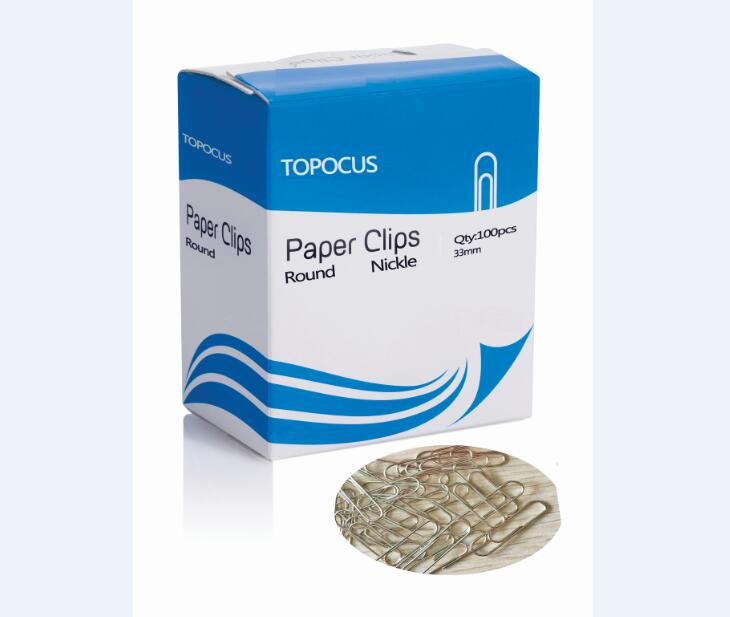 ROUND SHAPE PAPER CLIPS-NICKLE