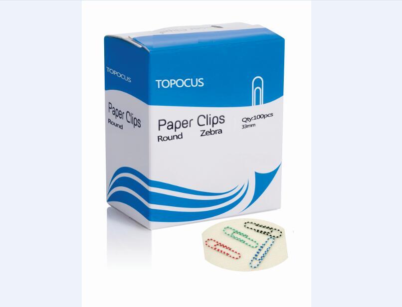 ROUND SHAPE PAPER CLIPS-ZEBRA